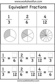 Fractions and Equivalent fractions on PinterestEquivalent Fractions Worksheets