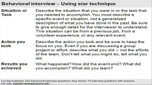 answers to behavioral based interview questions answers to behavioral based interview questions