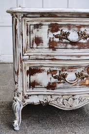 chalk painted distressed furniture shabby cottage chic side table hand painted antique white finished dark walnut stain vintage painted furniture shabby antique distressed furniture