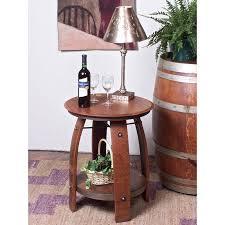 reclaimed wine barrel furniture wine barrel furniture end table arched napa valley wine barrel table