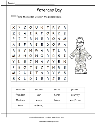 veterans day lesson plans themes printouts crafts veterans day wordsearch