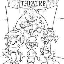Small Picture Chicken little says goodbye coloring pages Hellokidscom