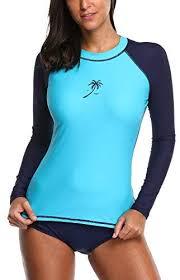 <b>Attraco Women Rash Guard</b> UV Protective UPF 50+ Swimwear ...