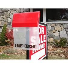 real estate brochure boxes infobox outdoor brochure box real estate literature flyer document holder