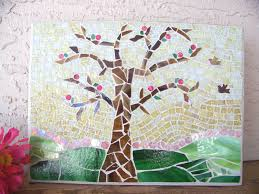 mosaic wall decor:  mosaic tree wall decor wall hanging whimsical zoom
