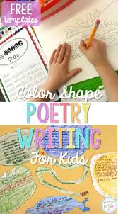 best ideas about poetry for kids poetry color shape poetry writing for kids