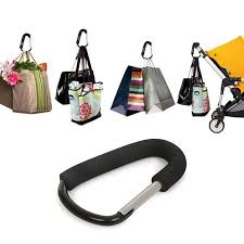 <b>Aluminium Black Pram Hook</b> Baby Stroller Hooks Shopping Bag ...