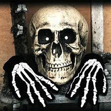 <b>Halloween Skull Bone</b> Skeleton Goth Racing Full Finger Gloves-buy ...