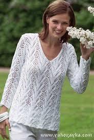 <b>Пуловер</b> из ажурных полос спицами. Ажурные <b>пуловеры</b> ...