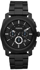 black appliance matte seamless kitchen: fossil mens fs black stainless steel bracelet black analog dial chronograph watch