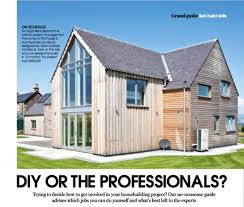 diy or hire the professionals for your self build allan grand designs diy self build allan corfield architects