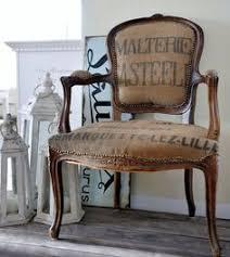 burlap reupholstered armchair burlap furniture