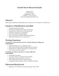 bartending resume example cipanewsletter cover letter resume objective bartender resume objective bartender