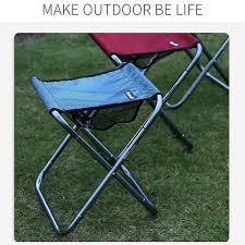 Folding Stool Thick Portable <b>Aluminum</b> Alloy Outdoor Furniture ...