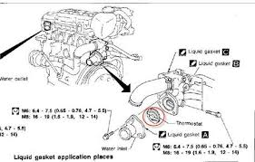solved how many thermostats does a nissan altima have and fixya show a diagram for replacing a thermostat on a nissan altima 2005
