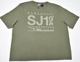 <b>Sean John</b> T-Shirt <b>Men's</b> Pieced Colorblock Logo Tee Grey Urban ...