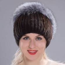 Shop Winter <b>women's</b> hat <b>real mink fur</b> hat <b>mink fox fur</b> plated caps ...