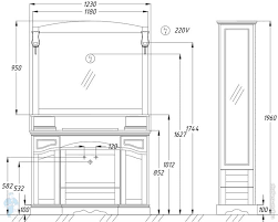 Комплект мебели <b>Opadiris Лучия 120</b> орех антикварный ...