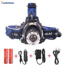 RU 8000LM <b>XML</b>-<b>L2</b> XM-L <b>T6 Led</b> Headlamp Zoomable Headlight ...