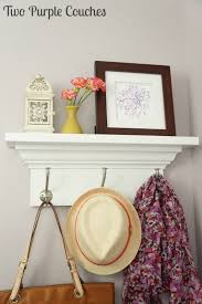 ideas wall shelf hooks: love this simple organization idea add a shelf near your garage or front door to