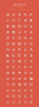 3px outline icons set 80 icons basic icons flat icons 1000