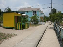 Placencia's narrowest street in the world!
