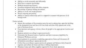 resume receptionist   sales   receptionist   lewesmrsample resume  medical receptionist job description resume