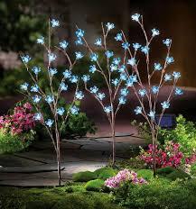 s3 solar power led blue flower branch garden stakes outdoor pathway lights rt amazing garden lighting flower