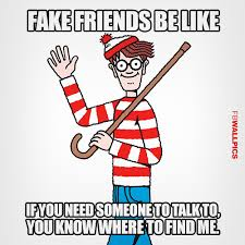 Fake Friends Waldo Meme Facebook Wall Pic via Relatably.com