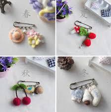 Doll's Brooch wool needlepoint kit <b>wool felt</b> needle felting pendant ...