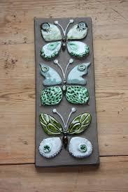 Wonderful butterflies wall plaque in ceramic from Jie Sweden ...