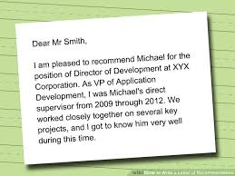 Examples Of Letters Of Recommendation  recommendation letter