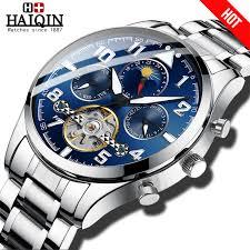 HAIQIN Automatic <b>mechanical Mens watches top</b> brand luxury Clock ...