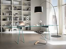glass office desk home office modern with designer desk glass desk blue modern home office