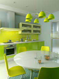 beautiful green pendant lamp with white round table and light green dining chairs light and green kitchen cabinet and modern gas stove beautiful modern kitchen lighting pendants yellow