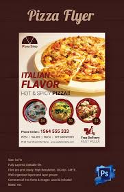 pizza flyers 37 psd ai vector eps format italian flavor pizza shop flyer template