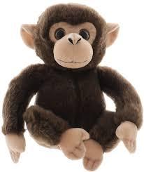 """Aurora <b>Мягкая игрушка</b> """"<b>Обезьянка</b>"""", цвет: темно-коричневый, 20 см"""