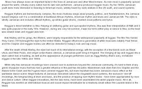 essay about musicthe loudest island in the world  a brief history of reggae music