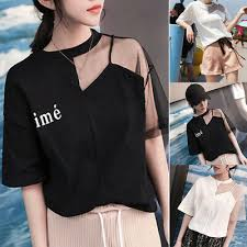 Korean <b>Women Short Sleeve</b> Casual Loose T Shirt Blouse Tops Tee ...