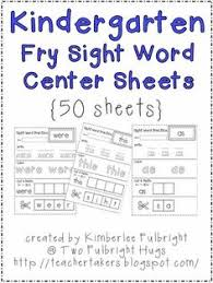 Sight words, Kindergarten sight words and Word sentences on PinterestSome have asked about my Sight Word sheets, but I have taken them off and created a new sheet that connects with technology. There is one worksheet, ...