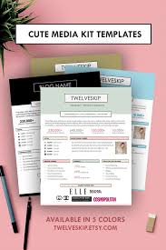 Free Templates Choose From 100s Of Examples Punchy Easy Edit Media Kit Templates For Bloggers