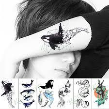 Waterproof Temporary Tattoo Sticker Animal Whale Fish Fake Tatto ...