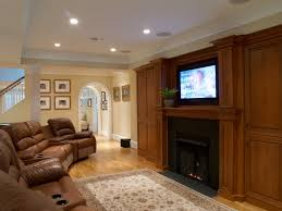 fireplace finished basement basement ceiling lighting ideas