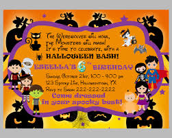 kids halloween costume party invitations birthday kids halloween costume party invitation