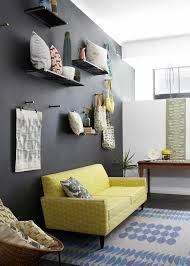 black paint accent wall yellow sofa bright carpet living room set bright yellow sofa living
