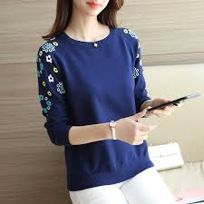 Hollow knit female long sleeved lace <b>beading</b> collar shirt and <b>new</b> ...