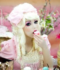 doll makeup costume and circle lenses