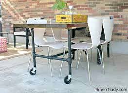 dining table with wheels: dining room furniture with caster chairs best