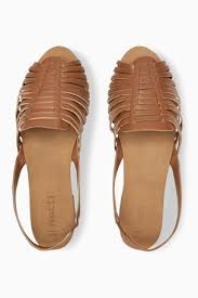 Купить Кожаные плетеные <b>туфли с ремешком</b> через пятку на ...