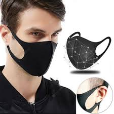 3D Washable Mask Mouth Non-medical masks Reusable Black ...